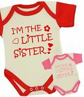 BabyPrem Baby Clothes Girls LITTLE SISTER Creeper One-Piece Creeper Funny Gifts