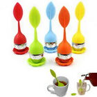 Silicone&Stainless Steel Leaf Tea Strainer Teaspoon Infuser Ball Spice Filter FM