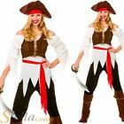 Ladies Shipmate Pirate Caribbean Wench Fancy Dress Costume Outfit Size 10-24