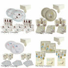 Stylish Baby Shower PartyTableware Kits Plates Napkins & More - Several Designs!