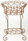 """29"""" Wrought Iron Helen Heart Plant Stand"""