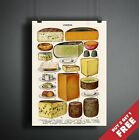 VINTAGE CHEESE CHART POSTER A3 A4  Decoration Print for Pubs Restaurants Kitchen