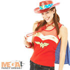 Wonder Woman Superhero Fancy Dress Ladies Costume Top
