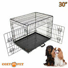 Dog Cage Cozy Pet Puppy Crate Black  5 Sizes Travel Crate Cat FREE 48H Delivery