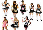 Sexy Black and White Pink French Maid Costume Party Fancy Dress Up Halloween