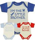 BabyPrem Baby Clothes LITTLE BROTHER Bodysuit Vest Slogan Boys Fun One-Piece