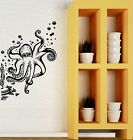 Wall Decal Octopus Tentacles Sea Animal Marine Bubbles Vinyl Stickers (ig2900)