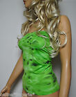 Boob Tube Top Green Black Lycra Long Strapless BANDEAU Club Party Holiday W746