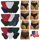 3 6 12 Knocker Mens Bikini Briefs Boxer Underwear Solid, Stripe, TBand S-XL New