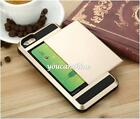 Card Storage Metal Slide Shockproof Hard Back Cover Case For iPhone 5S 6 6S Plus