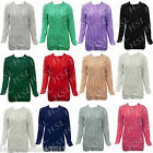 Ladies Women's CrewNeck Cable Knit Long Sleeve JumFruit of The Loom Raglan SS270