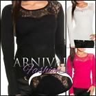 NEW SEXY WOMEN'S FASHION lace JUMPERS shop online ladies LACY KNIT TOP SWEATERS