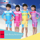 Kids Rashguard Swimwear Diving Surfing Long Sleeve Top Shirt Shorts Set LS-811