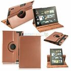 360 Rotating PU Leather Case Cover w Stand For Amazon Kindle Fire HD 7 & 8.9 HDX