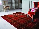 Glen Kilry Red Tartan Rug in various sizes and runner
