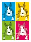 English Bull Terrier Dog Pop Art Print Poster - s344