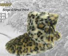 ANIMAL PRINT BOOTIE SLIPPERS