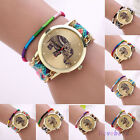 Womens Braided Weaved Heart  Dream Catcher Wrist Watch Bracelet Ladies Gift