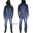 Time is Money jumpsuit, denim overalls onesie urban jeans straight fit mens ind