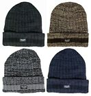 Mens Thinsulate Thick Winter Turnover Cuff Hat, One Size - 4 Colours