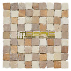 """Marble Mosaic Tile, """"Rabat Collection"""" MM 1103 - Barrio, 1-1/4""""X1-1/4"""", Tumbled"""