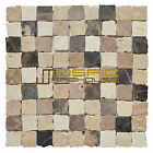 """Marble Mosaic Tile, """"Rabat Collection"""" MM 1104 - Plaza, 1-1/4""""x1-1/4"""", Tumbled"""