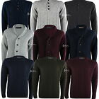Mens Chunky Cable Knit Jumper Sweater Cardigan Wool Mix Thick Warm Knitwear