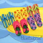 FUNKY HOLIDAY FLIP FLOP EARRINGS COOL BEACH SANDAL FUN NOVELTY SHOE RETRO KITSCH