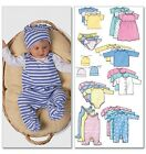 Butterick 5585 Baby Jacket Top Romper Suit Nappy Cover Hat Sewing Pattern B5585