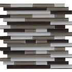 "Glass Mosaic Tile, ""Plateau Collection"" GM 1103 - Strip, Mixed Colors"