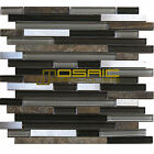 "Glass, Stone, and Metal Mosaic Tile, ""Litho Collection"" GM 3203 -  Strip"