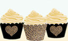Leopard Love Big Cat Cubs Printed Wraps Cupcake Cases Cake Wrappers Cup Cake