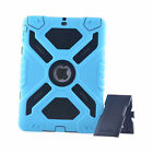 Pepkoo Shock/Dirt/Water Proof Stand Case Cover For iPad 2 3 4 5 6 /Air 1 2 /mini