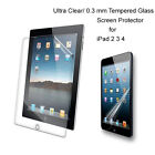 For iPad 2/3/4 Ultra Clear/Tempered Glass screen protector Film