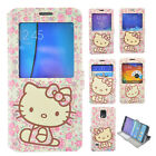 Hello Kitty Flower Smart Cover Window Leather Case Flip Skin Pouch For Samsung