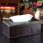 Durable PU Leather Tissue Box Cover Napkin Paper Holder Case Rectangle Home Car