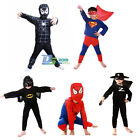 Superhero Superman Boy Children Kids Avenger Costume Halloween Party Fancy Dress