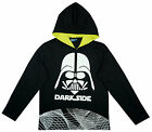Boys Star Wars Darth Vader Dark Side Hooded Long Sleeve T-Shirt Top 6 - 15 Years