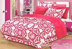 Teen Girls PINK & WHITE DAMASK FRENCH CHIC Twin-Full Size...