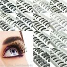 10 Pieces Thick Natural Fake False Eyelashes Eye Lashes Makeup with Glue