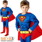 Muscle Superman Comic Book Boys Fancy Dress Superhero Kids Childs Movie Costume