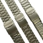 Genuine Stainless Steel Metal Watch Strap Band Mens Stainless SS Buckle Quality