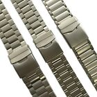 22 - 24mm Stainless Steel Metal Watch Strap Band Men Stainless SS Buckle Quality