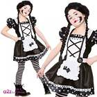 Broken Doll Kids Girls Halloween Fancy Dress Costume Gothic Zombie 5-13 Years