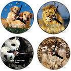 Animals Dogs, lions, pandas etc personalised Cd wall clock with desk stand