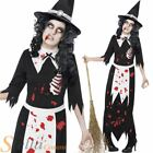 Ladies Zombie Witch Undead Halloween Womens Fancy Dress Costume Outfit
