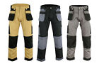 Black Grey Khaki Heavy duty Combat Mens Cargo Trousers Work Pent knee pad pocket