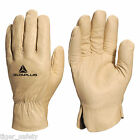 Delta Plus Venitex FB149 Yellow High Quality Full Grain Leather Work Gloves PPE