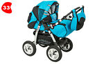 Baby Pram Buggy Pushchair Stroller Speed 3in1 + Car seat + Carrycot Accessories