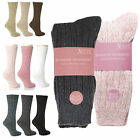 6 or 12 Pairs Ladies Chunky Wool Walking Winter Thermal Boot Socks Shoe Size 4-8